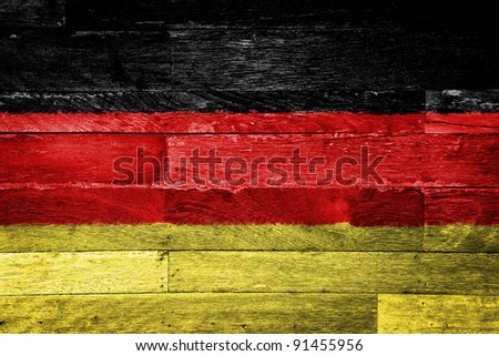 german flag painted on old wood background