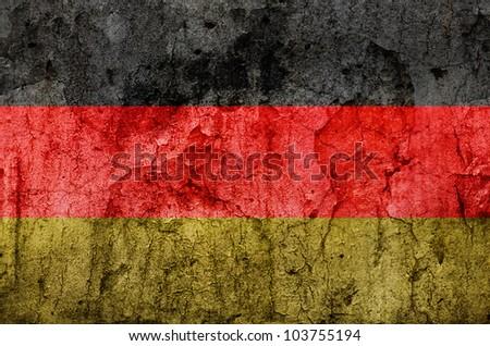 German Flag (Stone Texture)