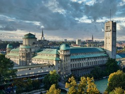 German Museum or Deutsches Museum in Munich, Germany, the world's largest museum of science and technology, Munich in Germany