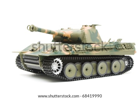 German Panther tank model - stock photo