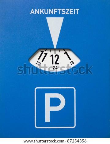 German Parking Disc