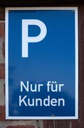 German parking sign