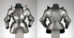 German Portions of a Field Armor  from different angles views, Medieval knight Armor