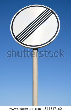 German road sign: end of previous limitation #1511317160