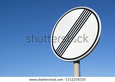 German road sign: end of previous limitation #1512258335