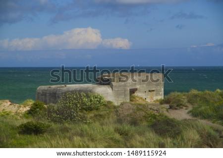German shelters on the beach in Denmark near to Skagen #1489115924