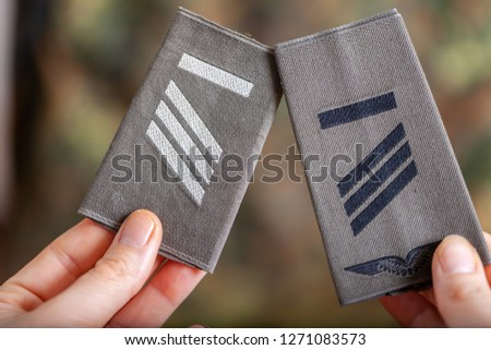 german shoulder ranks on a camouflage background #1271083573