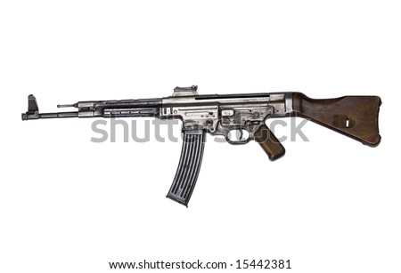 German submachine-gun MP44, made in 1944, isolated
