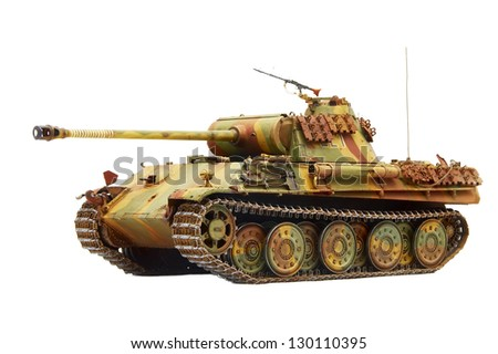 "German tank ""Panther"" in World War II. Isolated on white"