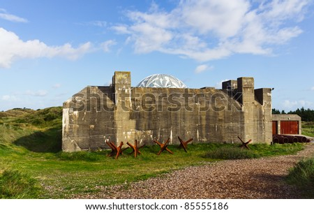 German Tirpitz world war 2 bunker in Denmark. Now a national monument. - stock photo