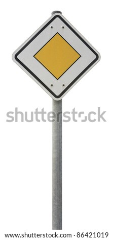 german traffic sign isolated on white