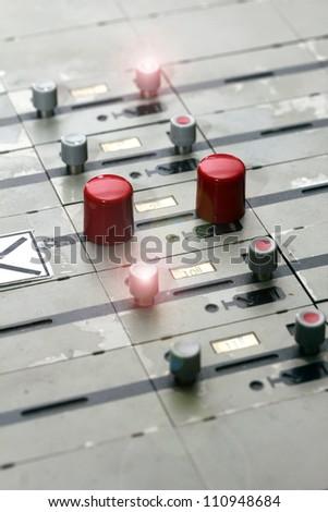 german train station control table lights