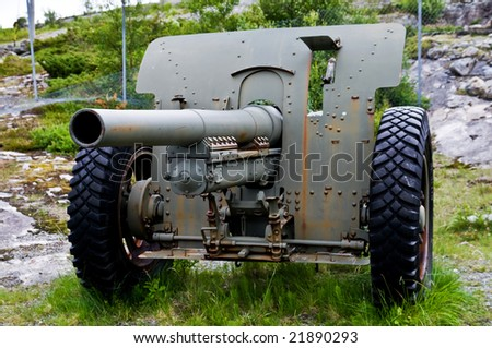 German World war II cannon left in the the north of Norway #21890293