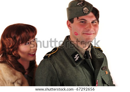 German WW2 Reenactment Kiss