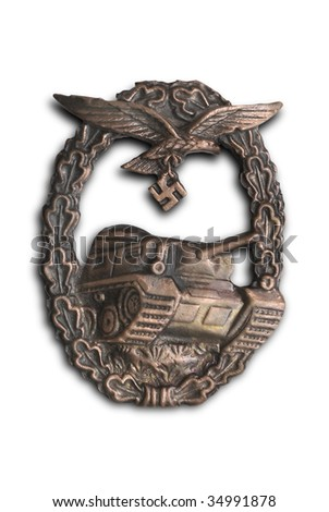 Germany at WW2.  German breastplate (badge) for tank attack (for Luftwaffe).