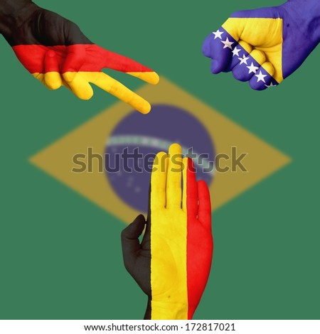 Germany Bosnia Belgium  Rock-Paper-Scissors #172817021