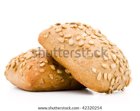 Germany bread isolated on white