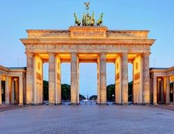 Germany capital city - Berlin, Brandenburg Gate at night