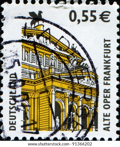 GERMANY - CIRCA 2002: A stamp printed in German Federal Republic shows Old Opera House, Frankfurt, circa 2002