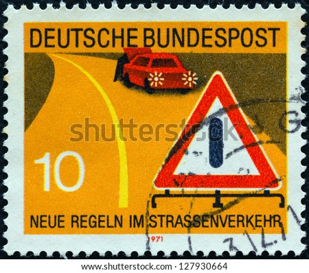 GERMANY - CIRCA 1971: A stamp printed in Germany from the \