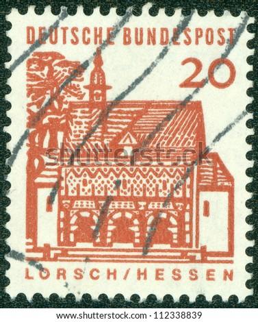 GERMANY -CIRCA 1964: Lorch am Rhein is a small town in the Rheingau-Taunus-Kre is in the Regierungsbezirk of Darmstadt in Hesse, Germany, circa 1964.