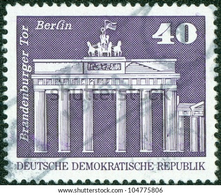 GERMANY - CIRCA 1973: stamp printed by Germany, shows Brandenburg Gate, circa 1973