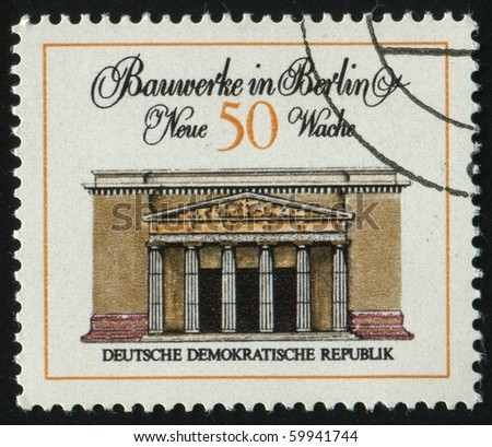 GERMANY - CIRCA 1971: stamp printed by Germany, shows Guard Memorial, circa 1971.