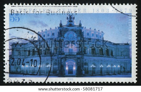 GERMANY- CIRCA 2003: stamp printed by Germany, shows Opera House, Dresden, circa 2003.