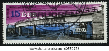 GERMANY - CIRCA 1976: stamp printed by Germany, shows Overpass, Berlin-Adlergestell, circa 1976.