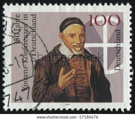 GERMANY- CIRCA 1995: stamp printed by Germany, shows Vincent Conferences in Germany, circa 1995.