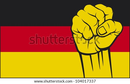 germany fist (flag of germany, germany flag)
