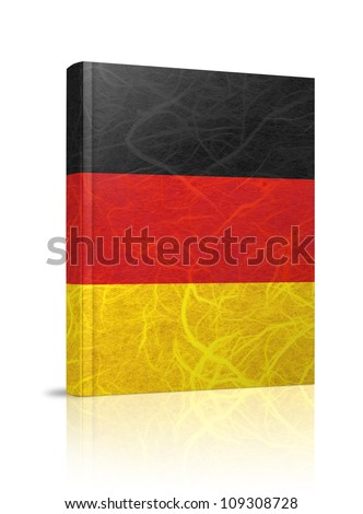 Germany flag book. Mulberry paper on white background.