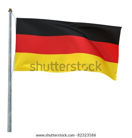 Germany flag (clipping path)