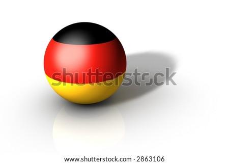 Germany Flag Globe