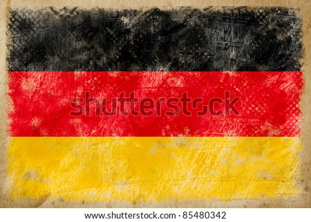 Germany flag grunge  on old vintage paper