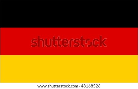 Germany flag isolated illustration