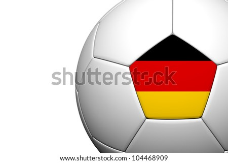 Germany Flag Pattern 3d rendering of a soccer ball