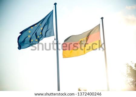 germany flag union flag and germany flag #1372400246