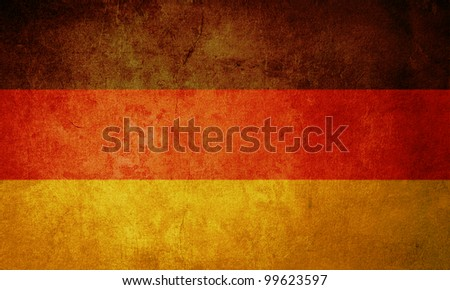 germany flag with old texture grunge and vintage