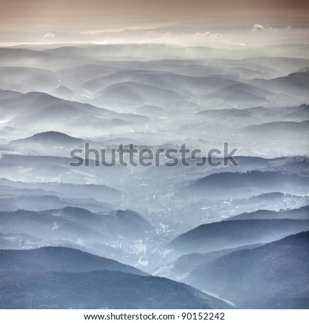Germany hills from above