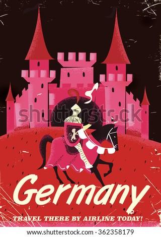 germany knight vintage travel...