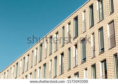 Germany. Looking up of the sky with modern construction. modern architecture.