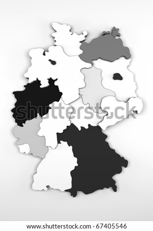 Germany Map/Digitally rendered scene - stock photo