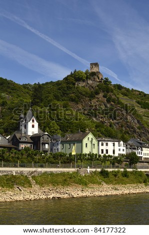 Germany, Rhine Valley, Unesco World Heritage, Castle Gutenfels