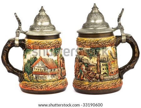 germany stein beer isolated