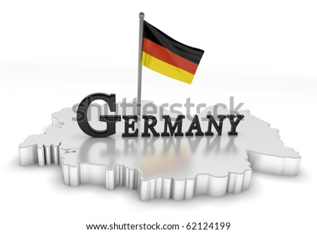 Germany Tribute/Digitally rendered scene with flag and typography