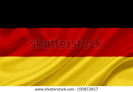 Germany waving flag - stock photo