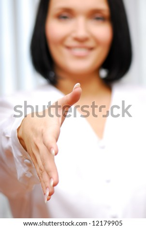 Gesturing - business agreement. Human hand.