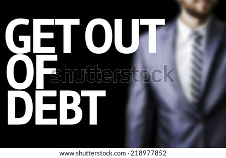Get Out of Debt written on a board  Foto stock ©