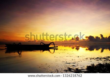 Get Ready to Rise. Sunrise Background. Beautiful Sunrise Background. Landscape Background. Beach Sunrise. Boat in Sunrise
